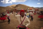 Dance Festival in the Quimsa Chata mountains near Tiwanaku, Bolivia